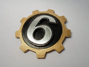 Image of Fallout Props & Toys to 3D Print: Fallout Style Door Number