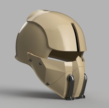 Image of Fallout Props & Toys to 3D Print: Synth Field Helmet
