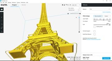 Imagem de Software para impressora 3D: fatiamento e gerenciamento da impressora 3D: Cura