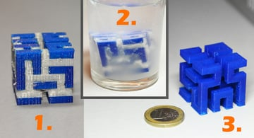 Dissolvable support structures are easier to remove, but require a dual extruder printer