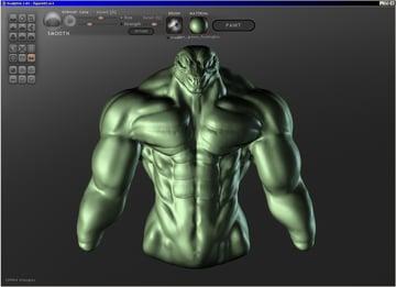 Sculptris' interface