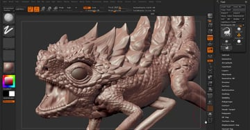 ZBrush's user interface
