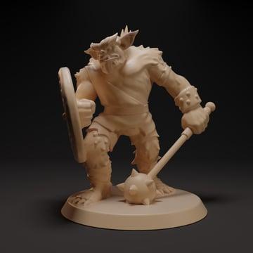 A 3D sculpted model