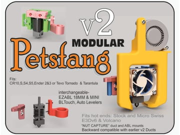 Image of Best Creality CR-10/S/V2/Mini Upgrades & Mods: Petsfang Modular Fan Duct