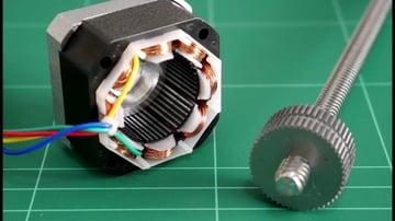 The inside of a stepper motor