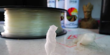 PLA is naturally transparent, though it looks white when layers stack up.