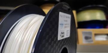 A roll of the popular PLA filament
