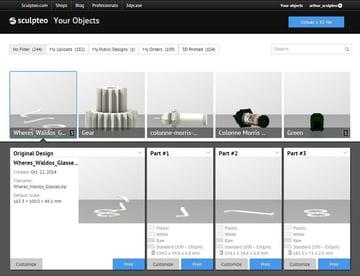 Sculpteo's Online 3D Printing Service
