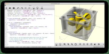 Imagem de Software para impressora 3D: software de modelagem 3D: OpenSCAD