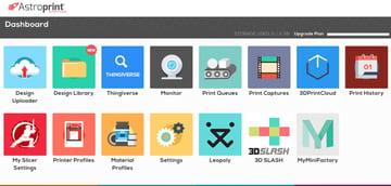 Imagem de Software para impressora 3D: fatiamento e gerenciamento da impressora 3D: AstroPrint