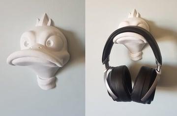 Image de Objets 3D utiles à imprimer en 3D: Porte-écouteurs canard