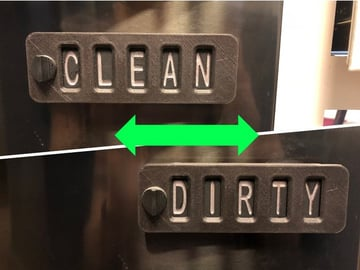Image of Cool Things to 3D Print: Sliding Word Change Sign