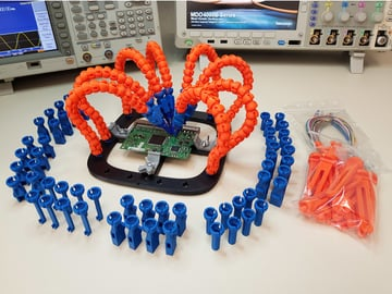 Image of: 3D Printed Tool #2: PCB Workstation with Articulated Arms