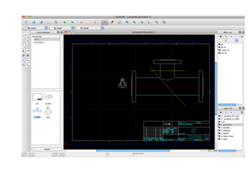LibreCAD's 2D interface