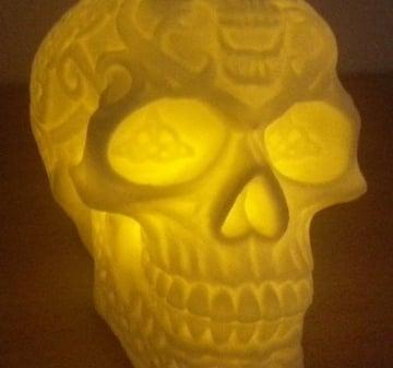 Paper House Sticker 3D LED Shimmer Skull -- CreateForLess   337x360