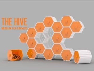 Image of: #2: The HIVE - Modular Hex Drawers