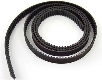 A brand new 3D printer belt, fresh off the shelves.