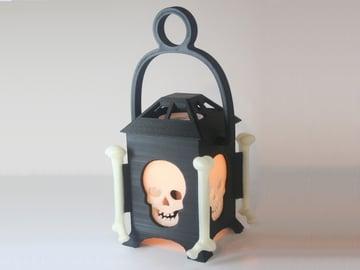 Image of 3D Printed Skull Lantern: What You Need & How to Build it