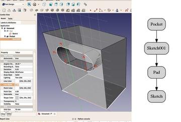 Imagen de Programas CAD para impresión 3D/ Programas de diseño 3D: FreeCAD