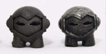 Unpolished vs. Polished metal filament print