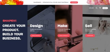 Image of Online-3D-Druck-Service-Dienstleister: Shapeways
