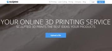 Image of Online-3D-Druck-Service-Dienstleister: Sculpteo