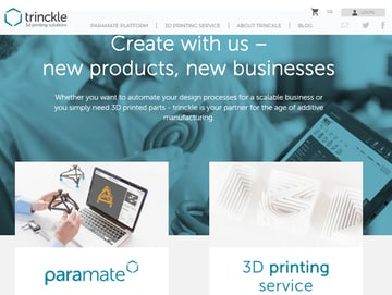 Image of Online-3D-Druck-Service-Dienstleister: trinckle