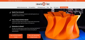 Image of Online-3D-Druck-Service-Dienstleister: JawsTec