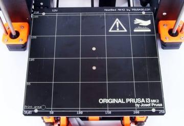 The Prusa i3 MK2 heated build plate.