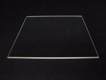 A sheet of borosilicate glass.