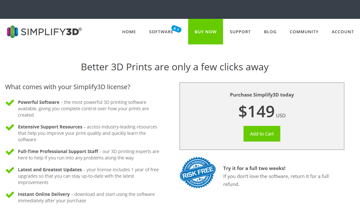 Image of Simplify3D Free Versions: Full Version