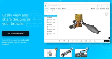 You can view DWG files online using Autodesk's cloud-based platform.