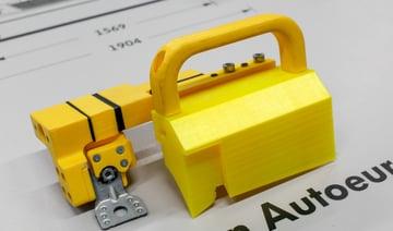 3D printed jig used in Volkswagen Autoeuropa's facilities