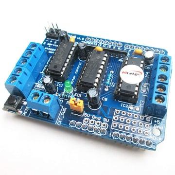 Image of Best Arduino Stepper Motors: HiLetgo L293D Motor Driver Shield Compatible to Duemilanove Mega UNO R3 AVR ATMEL
