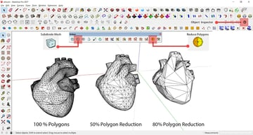 A low-poly heart in Sketchup.