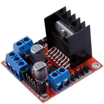 Image of Best Arduino Stepper Motors: Qunqi L298N Motor Drive Controller Board Module Dual H Bridge DC Stepper for Arduino