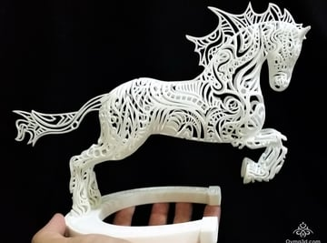 Horse sculpture printed by Shapeways.
