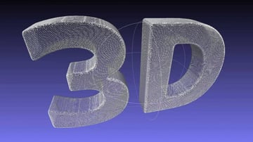 STL and OBJ are two common file types for 3D models