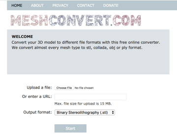Upload your STL file to MeshConvert to easily convert to OBJ online