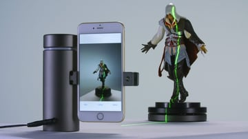 Picture of a phone scanning a figure
