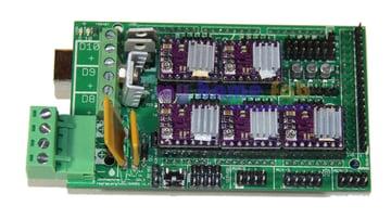An assembled RAMPS 1.4 board.