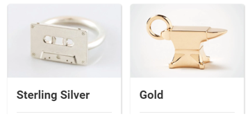 You can start 3D printing in silver or gold.