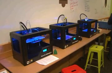 3D printers available at a Chicago library.