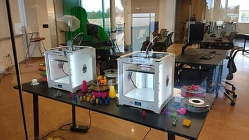 3D printing at Libby Library in Virginia, USA.