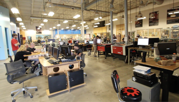 Interior of a maker space.