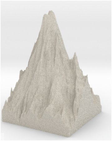 3D printed miniature of Mount Rainier in Seattle.