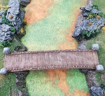 Chasm Bridge that has been 3D printed and painted.