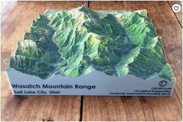 Wasatch Mountain Range on Etsy.com.