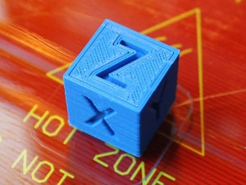 This calibration cube is a great print to help diagnose inaccuracies.