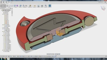 3D model in Fusion 360.